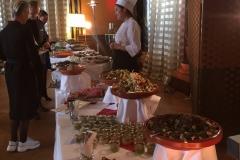 Le buffet froid du Brunch de Noël de l'Hôtel des 3 Couronnes à Vevey